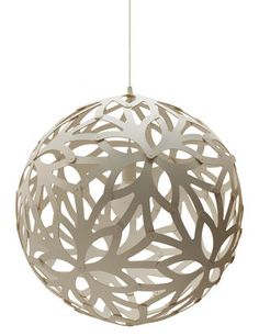 Floral Pendant - Ø 60 cm White by David Trubridge - Design furniture and decoration with Made in Design