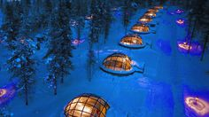 Stay at the Glass Igloo Hotel Kakslauttanen in Finland Wanna go? Add this to Wishberg - The best place to build and manage your bucketlist!