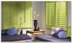 Discover our high-quality custom window blinds, shades, and treatments at competitive prices. Shop great deals on custom top-of-the-line window coverings for your home, office, or commercial space at Factory Direct Blinds today! Green Curtains, Traditional Shutters, Home, Window Styles, Interior Design Trends, Window Coverings, House Blinds, Interior Design, Patio Door Coverings