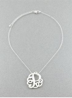 Pugster Monogram Necklace - #monogram #necklace #prep #gift