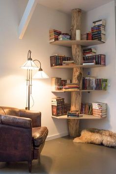 wooden rustic shelf