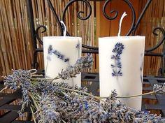 Levanduľová sviečka