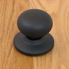 <li>Enhance your home decor with a matte black mushroom dummy door knob <li>Home improvement accessory features all metal components <li>For doors where only a pull or push is required