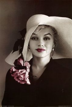 flowered hats | Marilyn Monroe Movie (Pink Flower Hat) Poster Print - 24x36 Poster ...