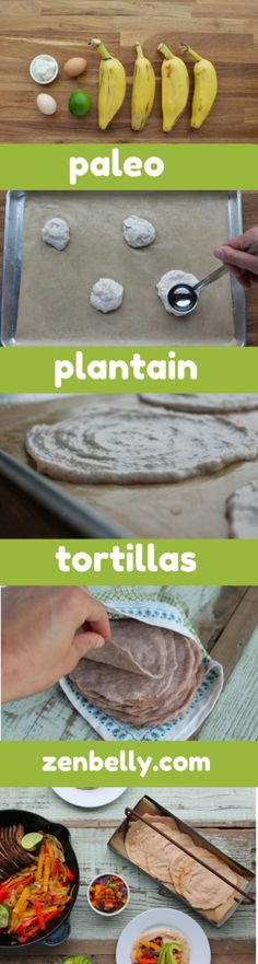 gf/paleo plantain tortillas