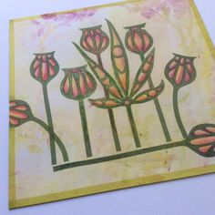 """Barbara Gray's Blog. """"don't go over it, get over it"""" when you make a mistake.  Stop card edging before and after flower on edge..."""