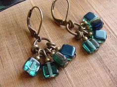 earrings jewelry blue beads DIY crafts bracelet bracelets accessories bronze