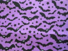 BATS BORDER BAT GREY BLACK COTTON FABRIC FQ