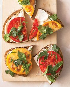 Heirloom Tomato Sandwich with Herbs and Creamy Tofu Spread
