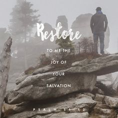 Father, in the name of Jesus restore to me the joy of Your salvation, amen.