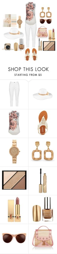 """""""spring 1"""" by ilona-giladi ❤ liked on Polyvore featuring Zhenzi, August Hat, Olivia Miller, Earth, Erica Lyons, Elizabeth Arden, Stila, Yves Saint Laurent and Monsoon"""