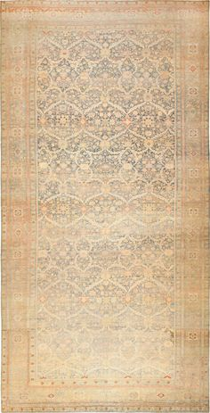 Antique Large Persian Sultanabad  Country of Origin / Rug Type: Persian Rugs, Circa Date: Late 19th Century  13 ft x 25 ft (3.96 m x 7.62 m)