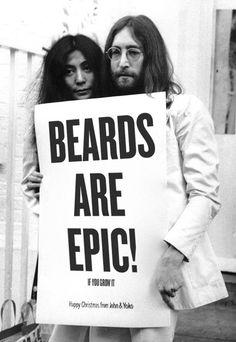 John & Yoko Agree #beards