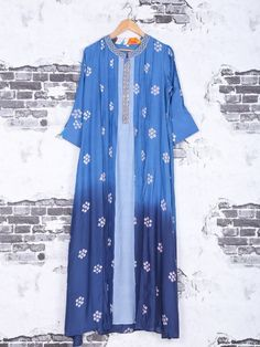 Cotton Blue Shaded Color Kurti
