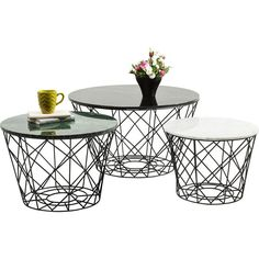 Coffee Table East Round (3/Set) - KARE Design