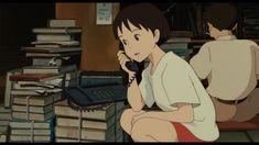 "Shizuku talking with Yuko on the phone - ""Whisper of the Heart"" (1995)"