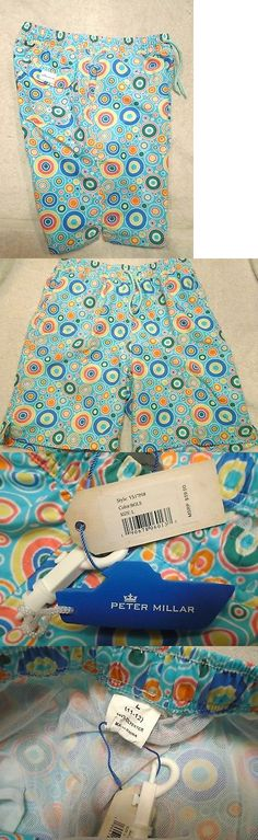 Swimwear 51919: Peter Millar Boys Polka Dot Everlasting Summer Pattern Swim Trunks Nwt Large $59 -> BUY IT NOW ONLY: $40 on eBay!