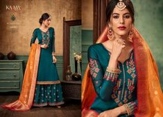 131bef3469 Karma Trendz Sharara Salwar Suit Satin Georgette Fabric Heavy Embroidered  Occasionally Traditional Fashion Designer Dress Single Pieces Wholesale  Supplier ...