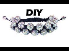 DIY: Double shamballa bracelet / Двойной браслет шамбала своими руками - YouTube