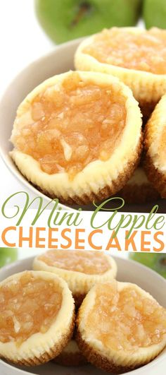 This recipe for Mini Apple Cheesecakes is so easy and results in a delicious fall dessert!