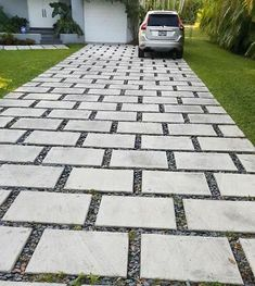 Look at our internet-site for a lot more relating to this marvelous driveway design Modern Driveway, Diy Driveway, Brick Driveway, Driveway Design, Driveway Landscaping, Cheap Driveway Ideas, Grass Driveway Pavers, Cobbled Driveway, Cement Pavers