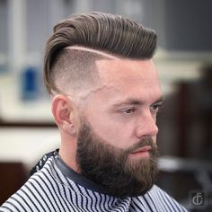 35 Pompadour Fade Haircuts: Modern Styling Tips & Ideas Comb Over Fade Haircut, Undercut Fade Hairstyle, Pompadour Fade Haircut, Temp Fade Haircut, Fade Haircut Styles, Mens Hairstyles Pompadour, High Fade Haircut, Beard Styles, Hairstyles Haircuts