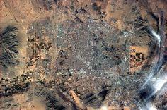 Phoenix, AZ. Photo taken from orbit on a clear, near-cloudless day.