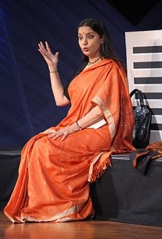 Shabanaji emotes in 'Broken Image'. The saree adds so much to the mood of the scene, doesn't it?