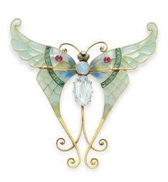 Boucheron Art Nouveau butterfly brooch.    Part of the Elizabeth Taylor collection that was auctioned by Christie's in NY, December 13th.    Price realized 122,500 dollars (estimate was 10,000 to 15,000)