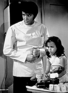 "Elvis Presley and Lorena Kirk in ""Change of Habit,"" Universal, 1969."