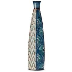 Elements Blue 24-In. Blue Peacock Vase ($30) ❤ liked on Polyvore featuring home, home decor, vases, blue, blue home accessories, elements home decor, peacock home accessories, lacquer vase and contemporary vases