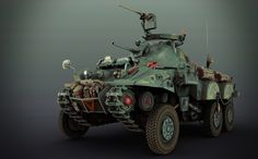 ArtStation - SCI-FI WW2 ALLIED RECON VEHICLE, Matthias Develtere