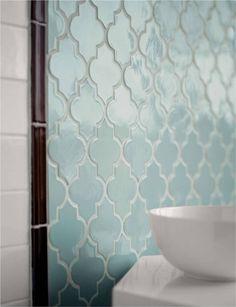 Gorgeous Moroccan tile #bathroom #tile #robinsegg