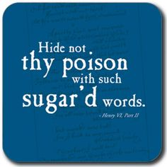 Coaster - 'Hide not thy poison' | Shop | Royal Shakespeare Company