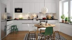 6 Simple Design Ideas For Scandinavian Kitchen Style Simple yet functional and elegance are the main impression of the Scandinavian kitchen style. Mentioned below are ideas of scandi-style kitchen that can be learned and do. Scandinavian Benches, Scandinavian Kitchen, Scandinavian Design, Minimalist Scandinavian, Kitchen Cabinet Design, Kitchen Decor, Kitchen Cabinets, Kitchen Ideas, Decorating Kitchen