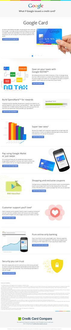 This is fascinating, we wonder if Google will ever try this (or if they've already explored this idea)?    What if Google issued a credit card? #infographic