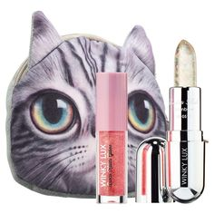 Shop Winky Lux's Sparkle Kitty Lip Gloss + Balm Kit at Sephora. An exclusive kit featuring Confetti Balm and a mini Disco Kitten Gloss in a super cute kitty clutch. Novelty Bags, Makeup Gift Sets, Winky Lux, Perfect Mother's Day Gift, Lip Art, Hair Tools, How To Make Bows, Skin Makeup, Face And Body
