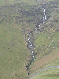 The waterfall Moss Force in the Newlands Valley in the English Lake District