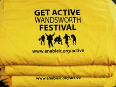 A super colourful job for the Wandsworth 'Get Active' festival!