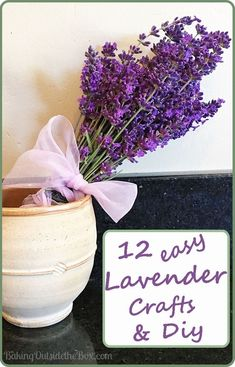 12 Cute, Clever and Easy Lavender Crafts and DIYs. Perfect for a handmade gift or a blissful little indulgence. Creative Crafts, Easy Crafts, Lavender Crafts, Diy Home Decor, Diys, Clever, Handmade Gifts, Crafting, Craft Gifts