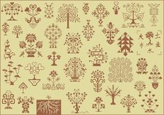 Trees of Life cross-stitch - free