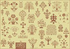 Trees of Life cross-stitch - free