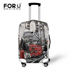 FORUDESIGNS Novel Design travel luggage suitcase cover storage bag case cover thick protective 18-30 inch Travel Accessories