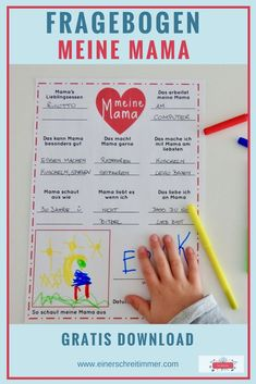 """Mother's Day: With the questionnaire """"My Mom"""" """"My Granny"""" you can record year by year, what your children love so much with Mom, like to do with her, what Mama is good at ."""