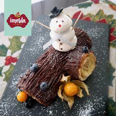 Pionono relleno de manjar y bañado en ganache de chocolate. #tronconavideno #imelda #creaalgounico    www.imelda.pe