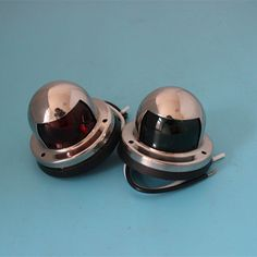A Pair 12V LED Navigation Light Signal Lamp Stainless Steel Lighted Bow Lamp Boat Starboard Marine