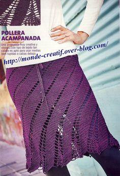 Voici des modèles des jupes au crochet , avec leurs diagrammes gratuits , ou leurs grilles gratuites Voici le premier modèle de jupe au crochet Voici les diagrammes gratuits de cette jupe au crochet Voici un autre modèle de jupe au crochet Voici les diagrammes...