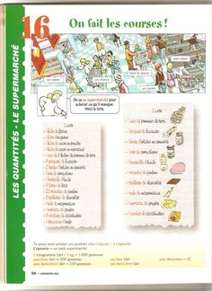 les courses French Teaching Resources, Teaching French, French For Beginners, French Worksheets, French Grammar, Core French, French Classroom, French Lessons, Fle