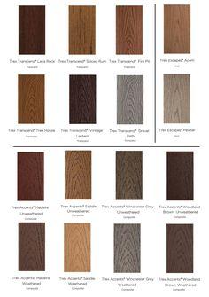 deck trex colors