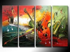 Buy 4 piece canvas art sets online. 56 inch art painting, heavy texture extra large canvas painting, 4 piece abstract paintings, 4 piece canvas painting for bedroom and living room, Affordable 4 piece abstract painting, 4 panel canvas artwork, 64 inch canvas painting, oversize oil paintings for sale. Music Painting, Oil Painting Abstract, Acrylic Painting Canvas, Art Music, Canvas Paintings, Painted Canvas, Hand Painted, Canvas Artwork, Painting Art